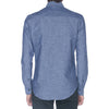 Navy Linen Blend Long Sleeve Shirt