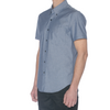 Navy Chambray Short Sleeve Shirt - Sydney's, Toronto, Bespoke Suit, Made-to-Measure, Custom Suit,
