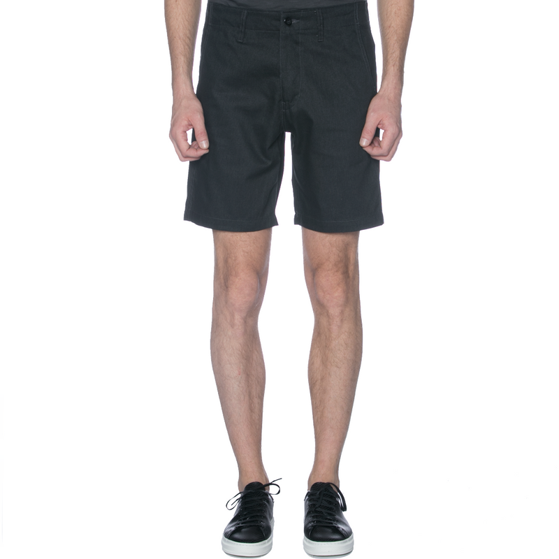 Charcoal Top Dyed Canvas Chino Shorts - Sydney's, Toronto, Bespoke Suit, Made-to-Measure, Custom Suit,