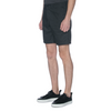 Black Cotton Linen Chino Shorts