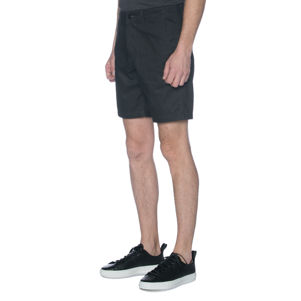 Charcoal Top Dyed Canvas Chino Shorts