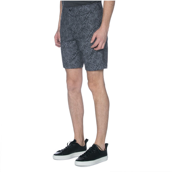 Charcoal Digital Camo Print Chino Shorts
