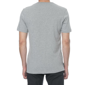 Grey Melange Hi-Lo T-Shirt - Sydney's, Toronto, Bespoke Suit, Made-to-Measure, Custom Suit,