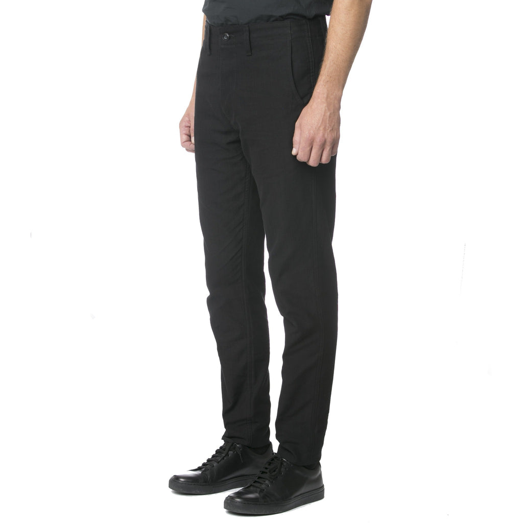 Black Topstitch Stripe Chino