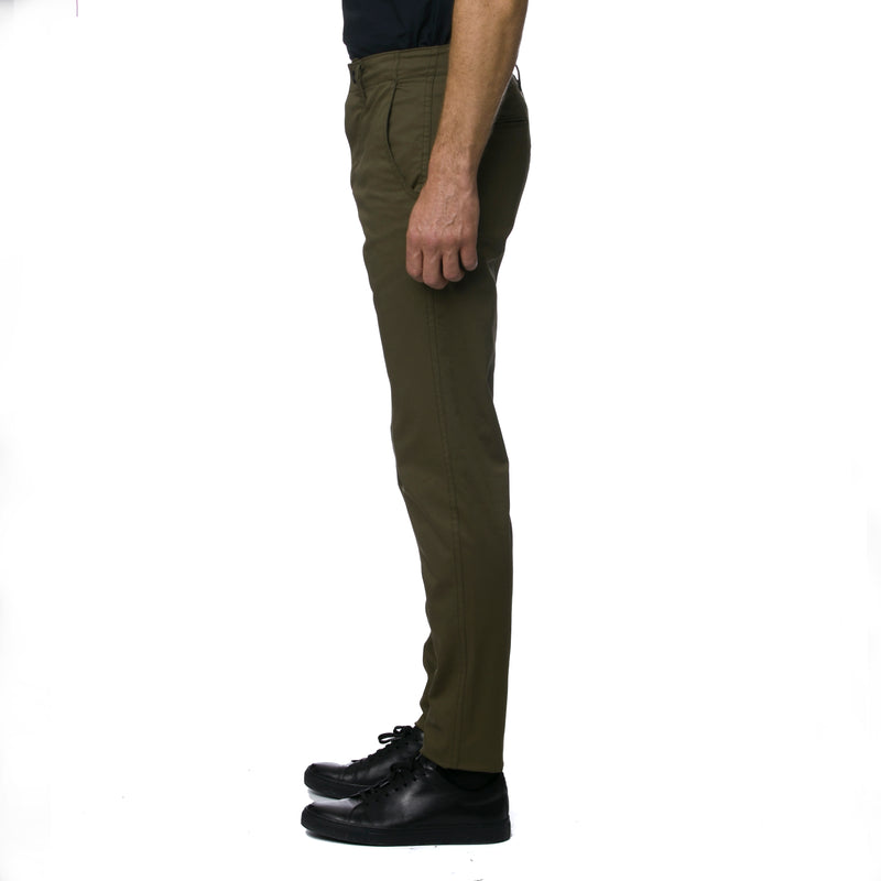 Dark Olive Technical Stretch HT Chino Trouser