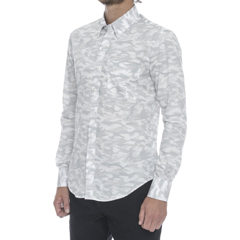 White Digi Dot Long Sleeve Shirt