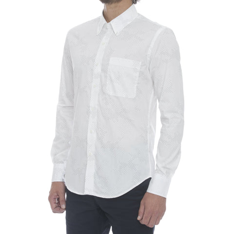 Off White Slub Long Sleeve Shirt
