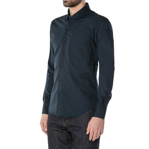 Black Quilted Long Sleeve Shirt