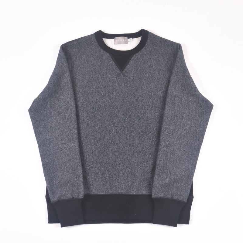 Charcoal Pepper 16 oz Cotton Fleece Crewneck Sweatshirt