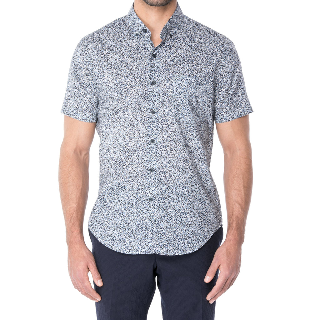 Blue Liberty Print Short Sleeve Shirt