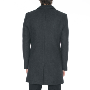 Charcoal Wool Car Coat - Sydney's, Toronto, Bespoke Suit, Made-to-Measure, Custom Suit,