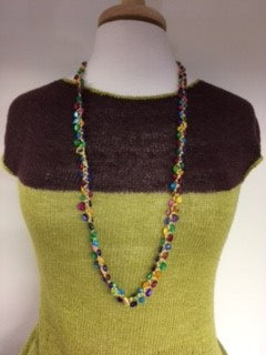 Crocheted Stone Chip Necklace