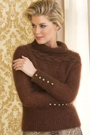 Jeanne Cable-Yoke Pullover