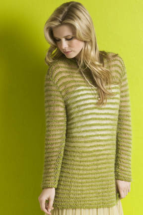 Taylor Sheer Stripes Pullover