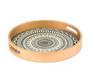 Tribal Tray Gold