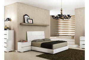PISA High Gloss White Bed