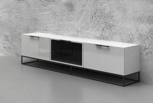 VIZZIONE II High Gloss White Entertainment Center