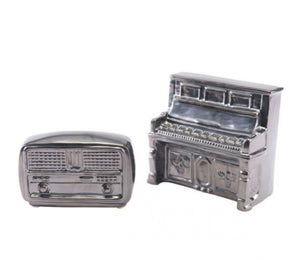 Antique Radio Metallic Gray