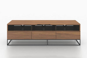 LUCCA Walnut Veneer Entertainment Center