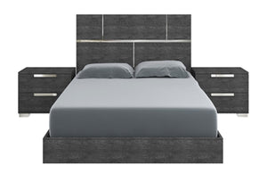 MILO QUEEN OR KING GRAY BIRCH LACQUER BED