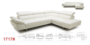 1717 PREMIUM LEATHER SECTIONAL