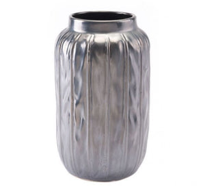 Antique Sm Vase Metallic Gray