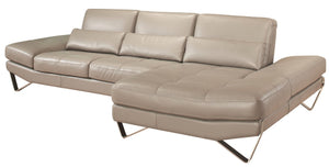 833 BY NICOLETTI  ITALIAN LEATHER SECTIONAL