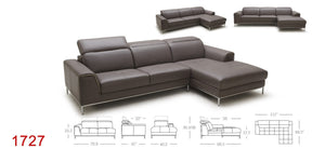 1727 PREMIUM LEATHER SECTIONAL