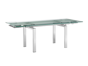 FROSTY EXTENDABLE DINING TABLE
