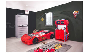 FERRARI STYLE RACING CAR BED FOR CHILDREN. Twin Size - Red