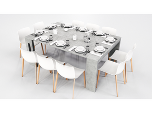 ELASTO EXTENDABLE CONSOLE / DINING TABLE. (10 SEATS)