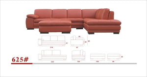 625 ITALIAN LEATHER SECTIONAL