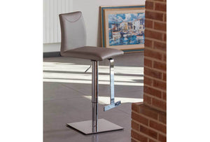TITO Italian White Leather Bar Stool