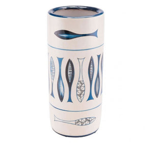 Fish Umbrella Stand White And Blue