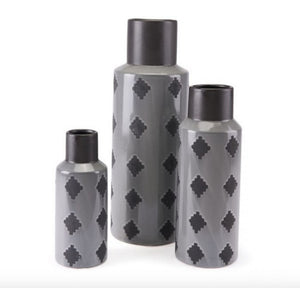 Arlequim Bottle Lg Gray & Black