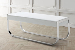 BELLAGIO White Eco-Leather Bench
