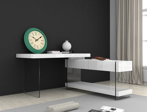 Cloud Modern Desk in White High Gloss