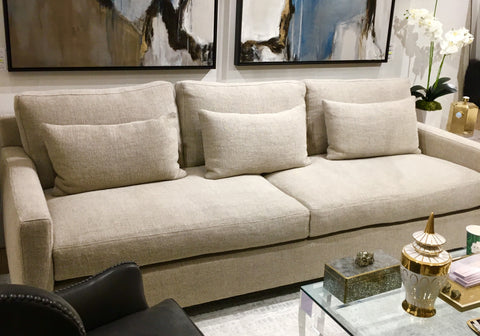 Linen sofa - 3up,2down