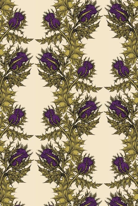 grand thistle hand print | wallpaper, timorous beasties, wallpaper, - adorn.house