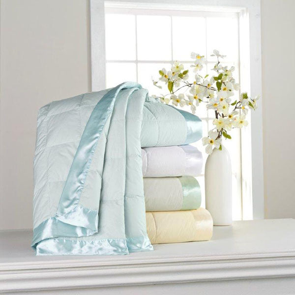 classic white down blanket - adorn.house