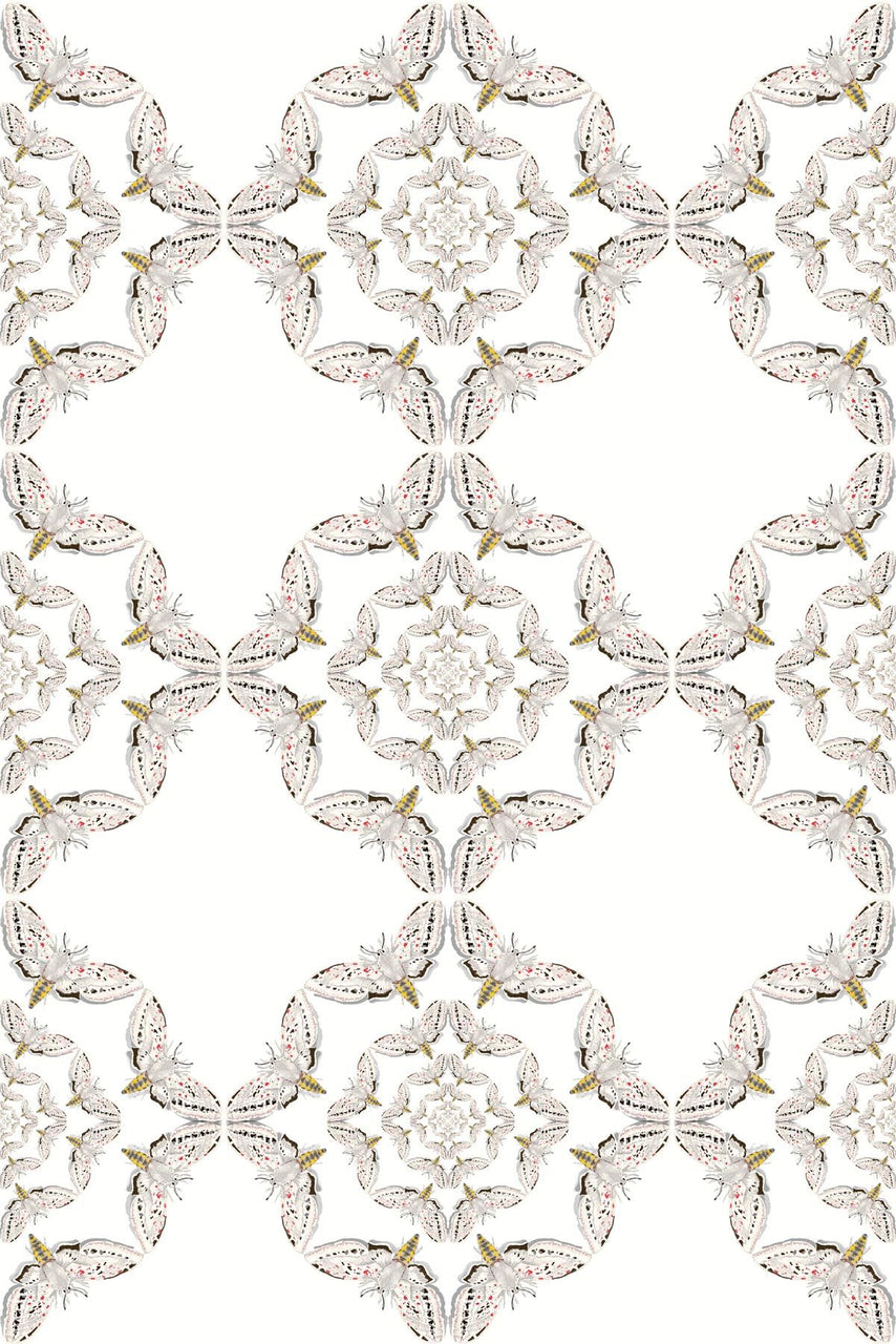 white moth circle wallpaper, timorous beasties, wallpaper, - adorn.house
