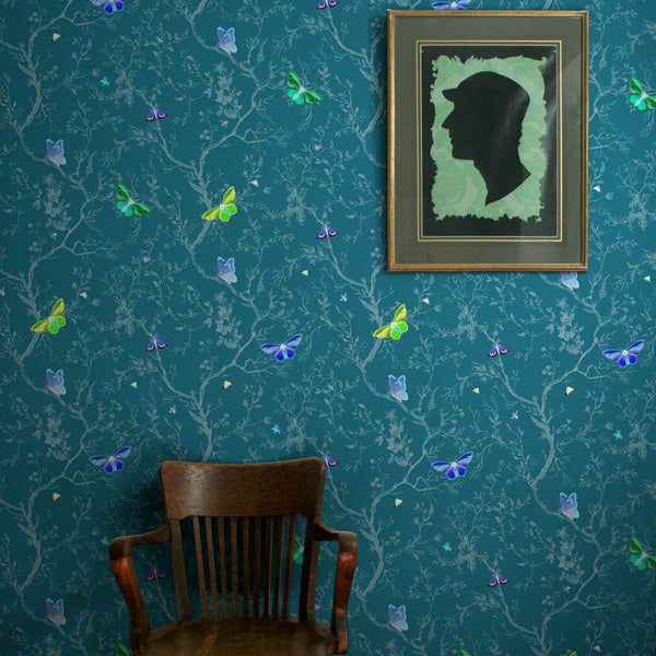 butterflies wallpaper, timorous beasties, wallpaper, - adorn.house