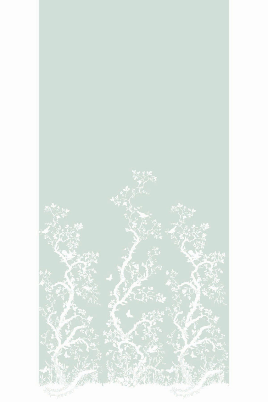 birdbranch hand printed wallpaper panel, timorous beasties, wallpaper, - adorn.house