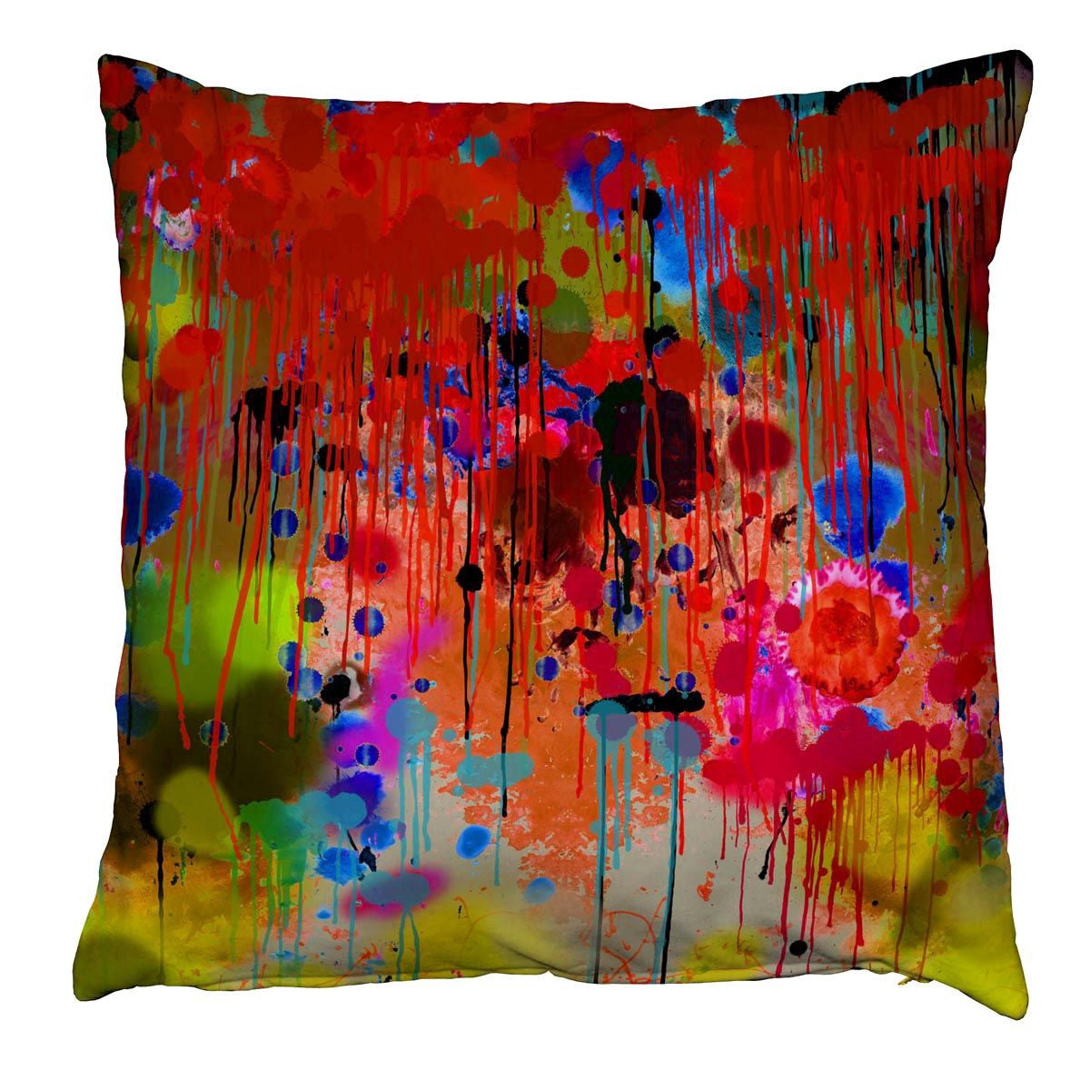 graffiti drips | cushion, timorous beasties, accessories | pillows and cushions, - adorn.house