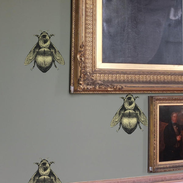napoleon bee wallpaper, timorous beasties, wallpaper, - adorn.house