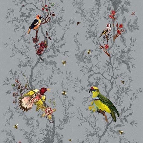birds n bees fabric, timorous beasties, fabric, - adorn.house