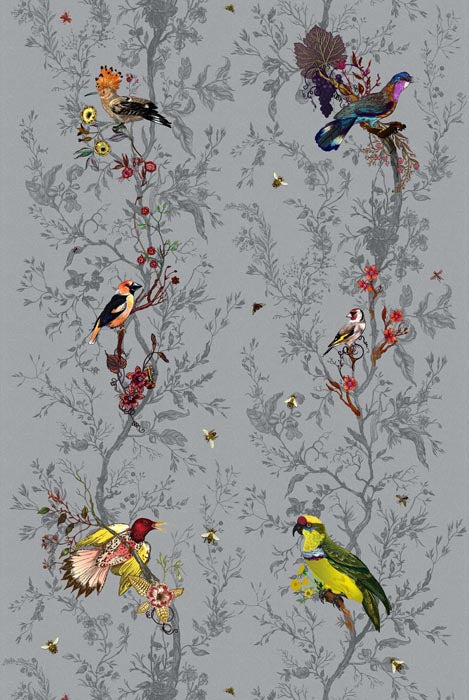 birds n' bees fabric, timorous beasties, fabric, - adorn.house