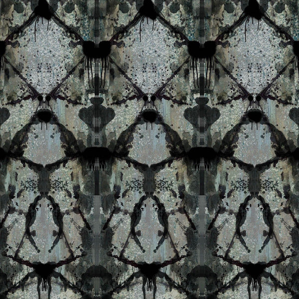 rorschach diamond | blue grey | panel wallpaper, timorous beasties, wallpaper, - adorn.house