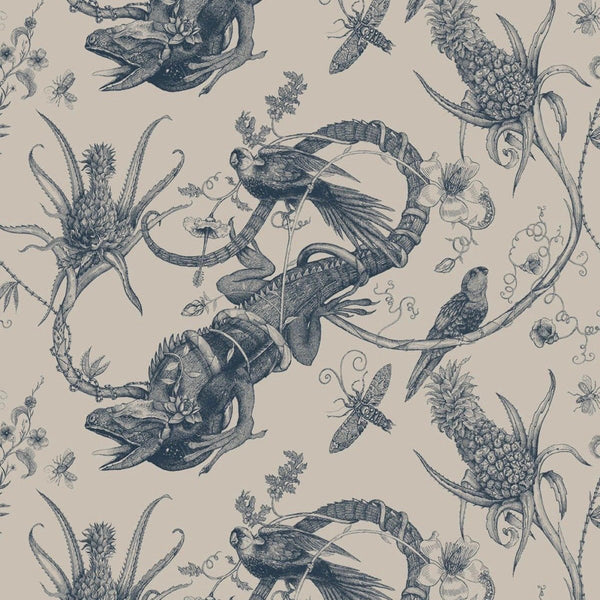 iguana linen fabric, timorous beasties, fabric, - adorn.house