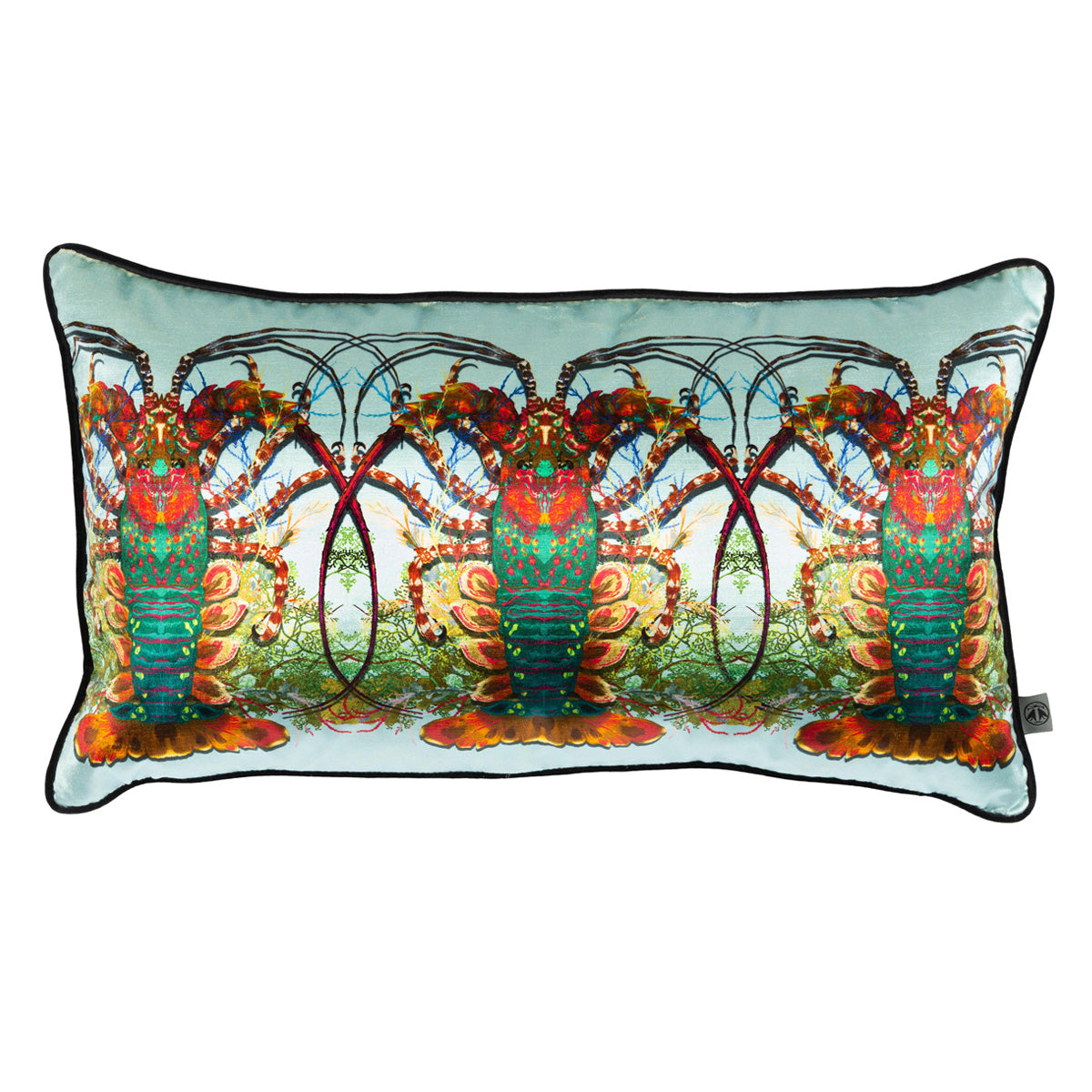 crustacean row velvet cushion, timorous beasties, accessories | pillows and cushions, - adorn.house